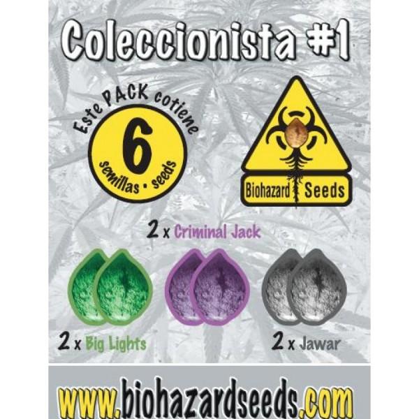 6 UND - COLECCIONISTA #1 - FEM (BIOHAZARD SEEDS) - BIOHAZARD SEEDS