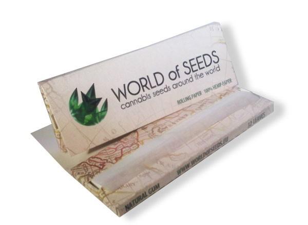 Papel de fumar (100% hemp) - World Of Seeds - Merchandising