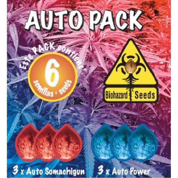 6 UND - AUTO PACK #1 -- FEM (BIOHAZARD SEEDS) - BIOHAZARD SEEDS